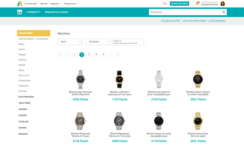 screenshot of Applauz Marketplace